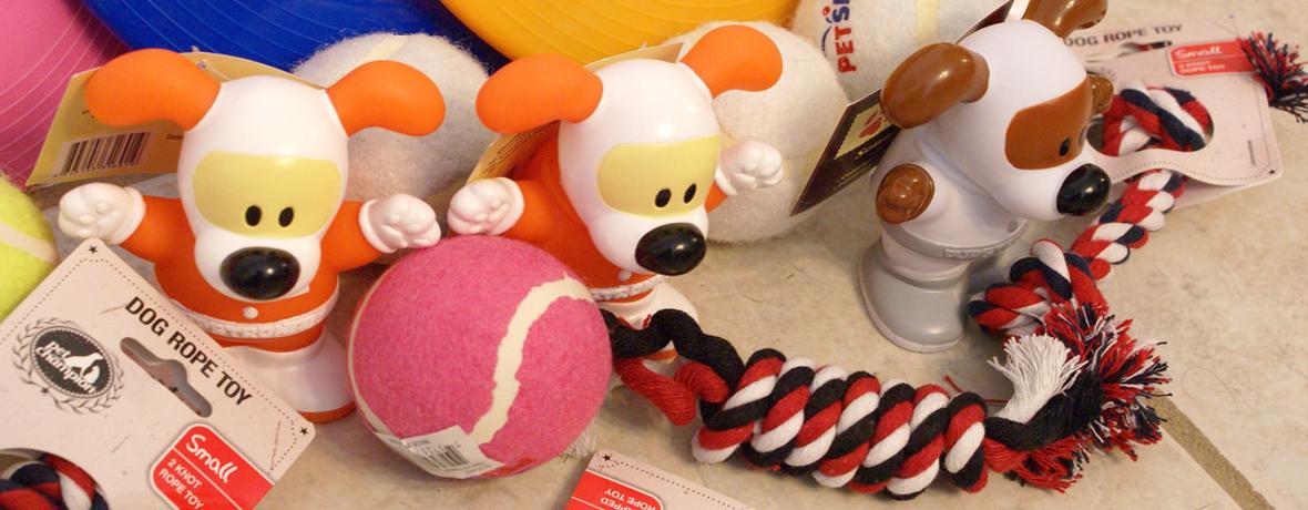 Velký výběr psích hraček